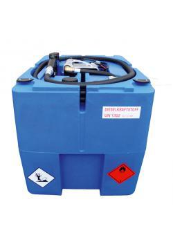 Mobil Bränsletank - 210 liter - för diesel - 40 l/min - Spänning 230V - utan lock