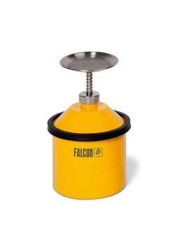 FALCON Annetzkanne - Stahl lackiert - mit 1¼ Zoll G-Gewinde Tränkteller - Pumpwerk - 2½ Liter