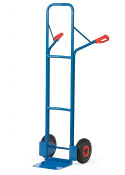 Tubular steel trolley - 300 kg - Height 1600 mm - air or rubber
