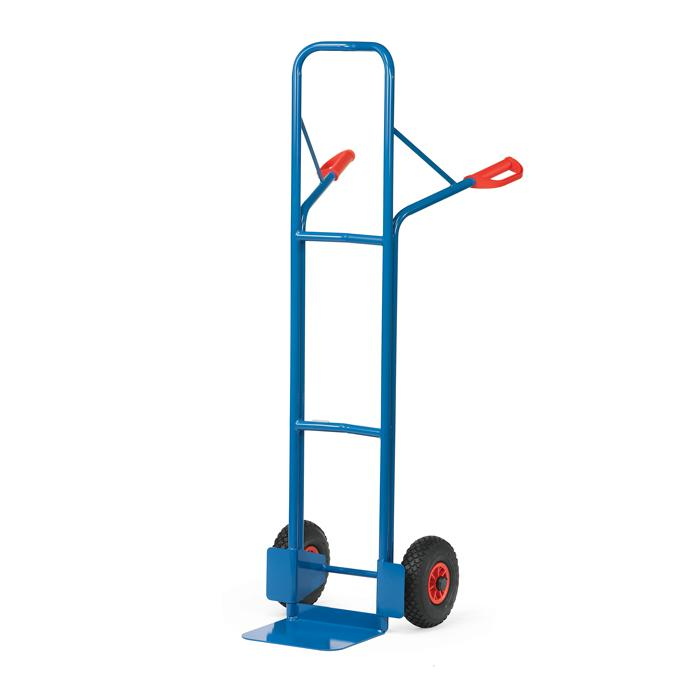 Stahlrohrkarre - 300 kg - Höhe 1600 mm - Luft oder Gummi