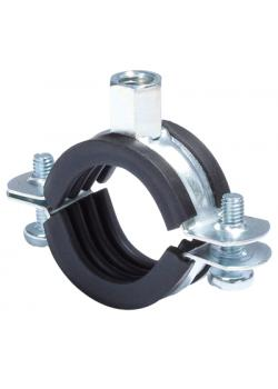 Pipe clamp - clamping range Ø 15 to 168 mm - connection M8-M10 - VE 8 to 100 pieces - Price per pack