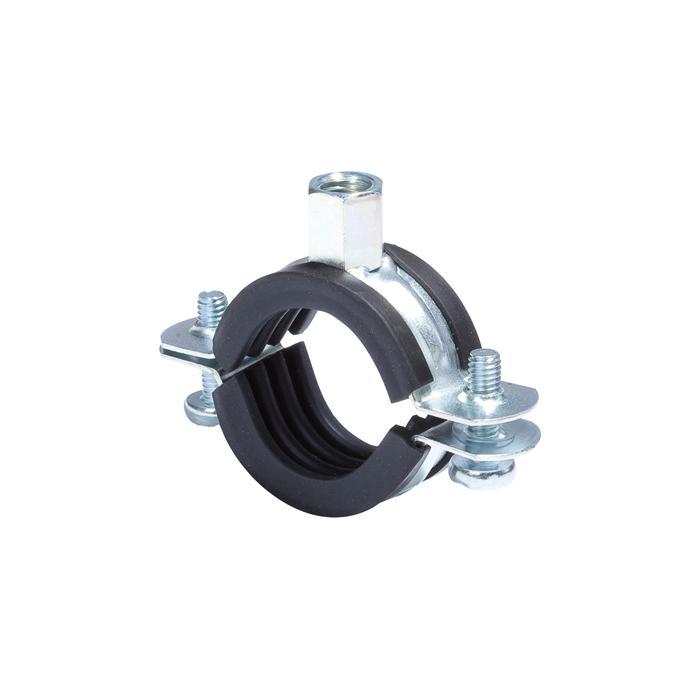 Rohrschelle - Spannbereich-Ø 15 bis 168 mm - Anschluss M8-M10 - VE 8 bis 100 Stück - Preis per VE