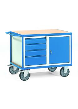 Table trolley - with 4 drawers and 1 cupboard - up to 600 kg