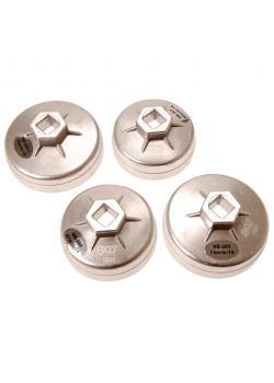 bouchon du filtre à huile set - 65 à 75 mm - 12,5 mm dur - Aluminium