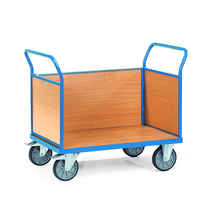 Tre trolley - con 3 pareti di legno - fino a 600 kg