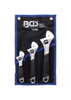Skiftnyckel uppsättning - gaffel med storlekstabellen - 3 st.