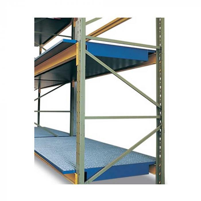 Regalwanne SRW - Stahl lackiert - verzinkter Gitterrost - 1800 mm oder 2700 mm Fachbreite