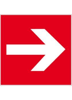 """Brandskylt """"riktningspil"""" - sidolängd 5-40 cm"""