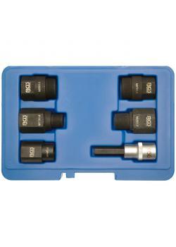 Injektoren-Demontagesatz - CRO-MO-Stahl - M14 x 1,0 bis M27 x 1,0 - 6-tlg.
