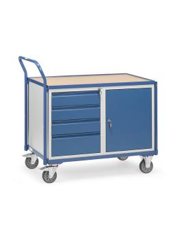 Table trolley - 1 cupboard and 4 drawers