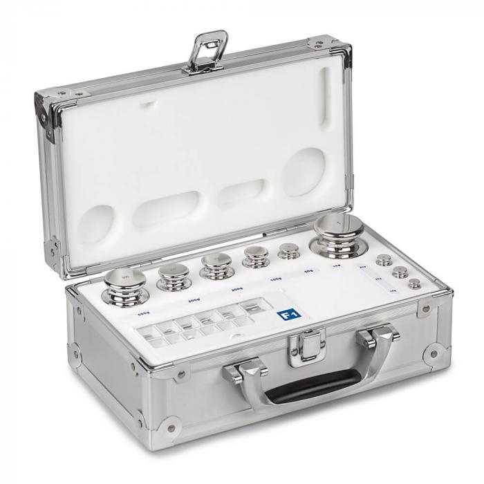 Gewichtssätze F1 - ECO-Form - Edelstahl poliert - 1 mg bis 10 kg - Aluminium-Koffer
