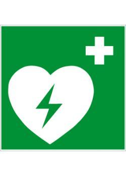 """Nödskylt """"defibrillator"""" - sidolängd 5-40 cm"""