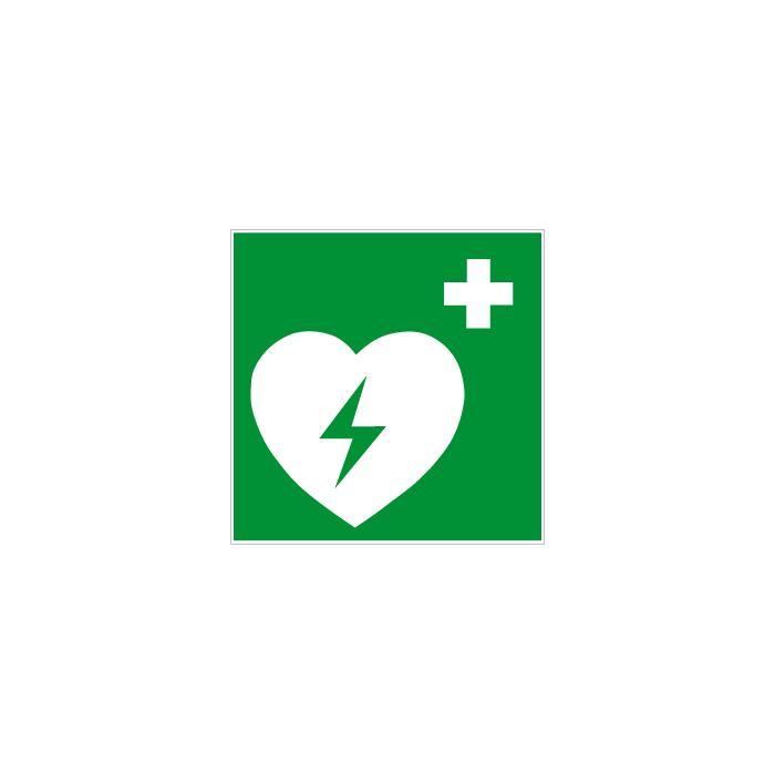 """Rettungszeichen """"Defibrillator"""" - Seitenlänge 5-40 cm"""