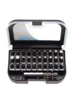 """Bit-Satz - in verschließbarer Box - Antrieb 6,3 mm (1/4"""") - 31-teilig"""
