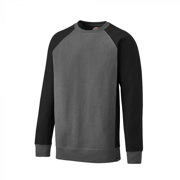 Tvåfärgad tröja - Dickies - storlek S till 4XL - grå / svart