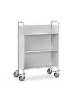 Office Cart - 150 kg - inclined with 3 floors and 3 closed walls