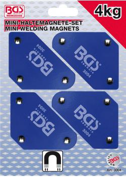 Mini obudowy magnesu zestaw - typy 45 °, 90 °, 135 ° - siła trzymania 4 kg - 4 szt.