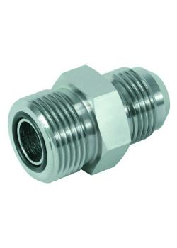 """Straight adapter - chrome-plated steel - AG UN 9/16 """"to UN 2"""" (ORFS) to JIC AG UNF 9/16 """"to UN 1 7/8"""""""
