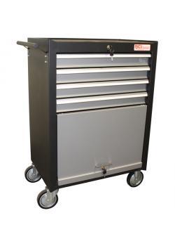 Werkstattwagen - 4 Schubladen - 1 Klappfach - abschließbar