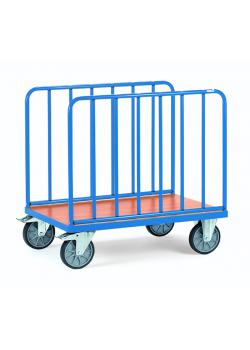 Longitudinal trolley - with vertical bars - height 750 mm