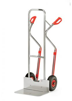 Alu hand truck - solid tires - Height 1300 mm - 200 kg