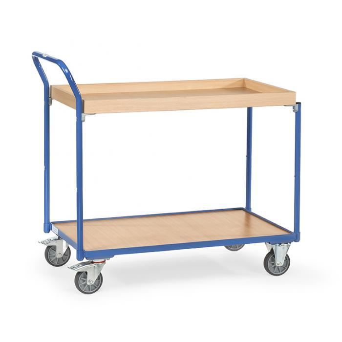 Tabella trolley - con 1 piano e 1 scatola di legno - gestire elevato standing