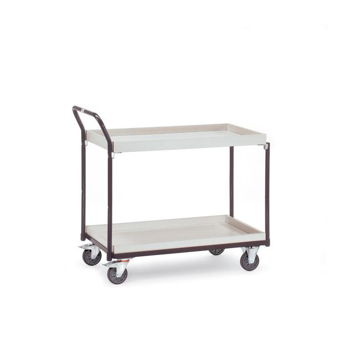 ESD Table trolley - with boxes - 2 boxes - carrying capacity 300 kg
