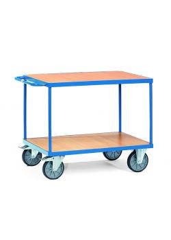Table trolley - 400-500 kg capacity - with 2 shelves