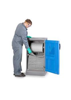 DENSORB dispenserstation S - med 1-bladig dörr - universell design