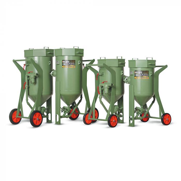 Sandstrahlgerät ohne Fernsteuerung BlastRazor Z-100 und Z-200 - Volumen 100 bis 200 l - Arbeitsdruck 10 bar