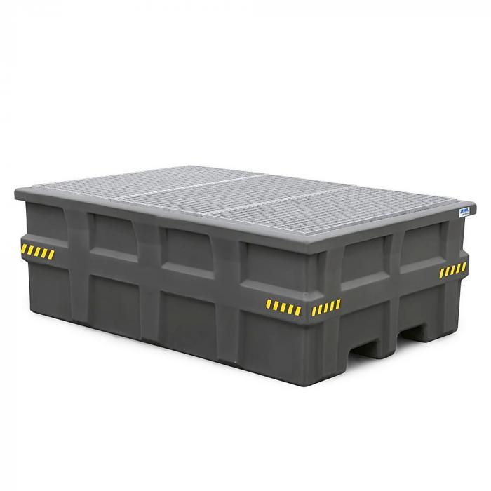 Auffangwanne pro-line - Polyethylen (PE) - für IBC - mit verzinktem Gitterrost