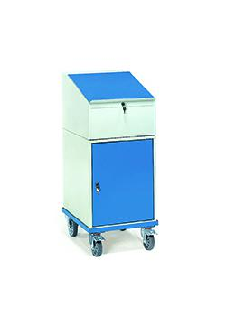 Roll cabinet with desk and cupboard - up to 150 kg
