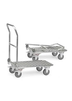 Folding Cart - Aluminum - supporting capacity 150 kg - hinged