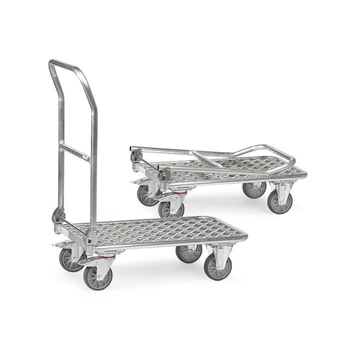Folding Cart - Aluminum - supporting capacity 150 kg - hinged