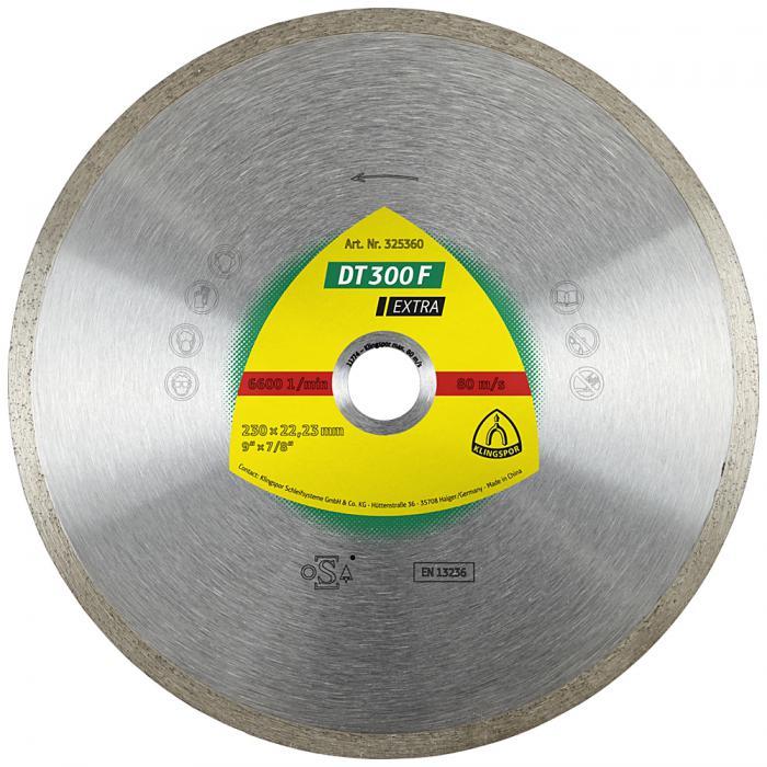 Diamanttrennscheibe DT 300 F - Durchmesser 125 bis 230 mm - Bohrung 22,23 mm - gesintert