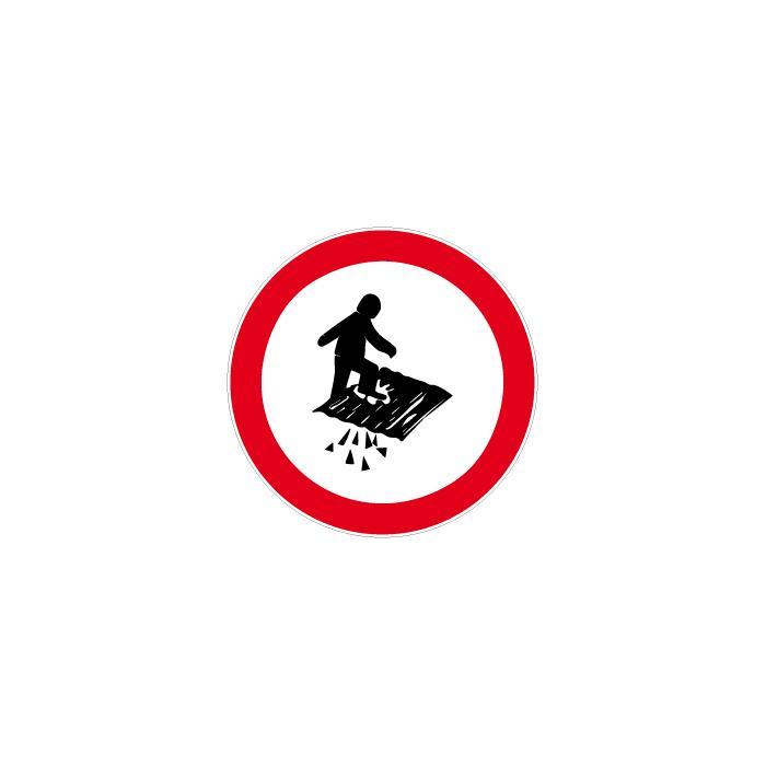 """Verbotszeichen - """"Durchsturzgefahr"""" - Durchmesser 5 bis 40 cm"""