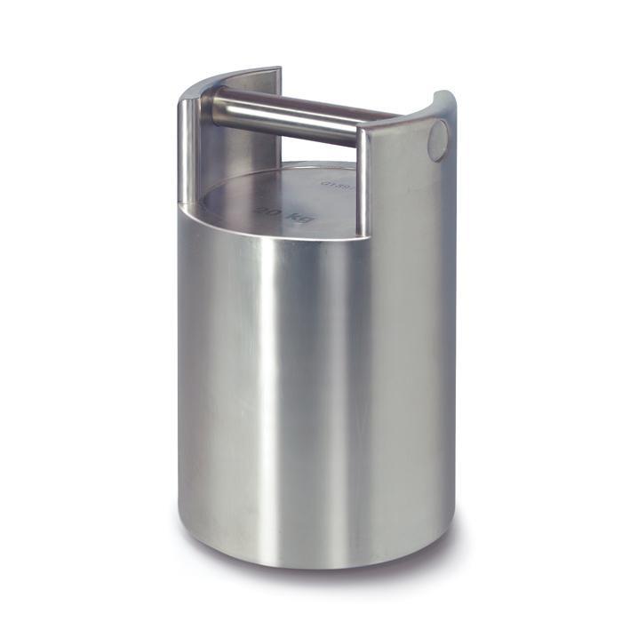 Prüfgewicht F 2 - 10 bis 50 kg - Maße (Ø x H) 137 x 131 mm - Edelstahl - stapelbar