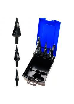 Stufenbohrer-Set - 4 mm bis 30 mm - HSS-Stahl - Nitrid beschichtet