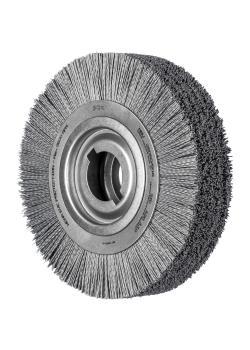 PFERD Rundbürste RBU - ungezopft - Kunststoffbesatz Siliciumcarbid (SiC) - Außen-ø 250 mm - Bohrungs-ø 50,8 mm - Besatzmaterial-ø 1,10 mm