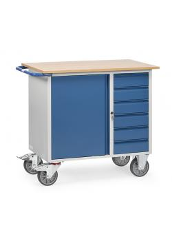 Tool Trolley - carrying capacity 400 kg - sheet steel