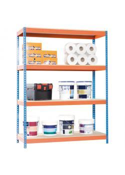 Bred span bolteløse reoler Ecoforte EF-1206-4 Spånplader - 2000 x 1200 x 600 mm - 4 niveauer