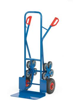 Stairclimber - to 200 kg - with 2 five-armed wheel-stars - wide blade