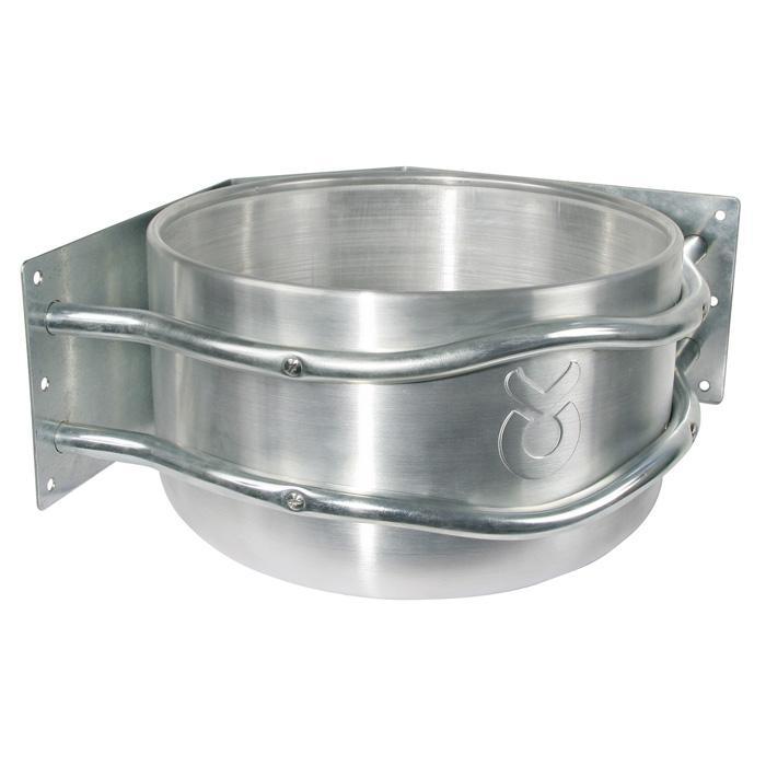 Futtertrog - Aluminium - ca. 18 l - mit Ablauf