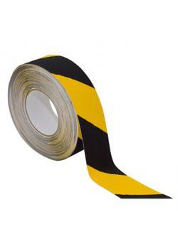 ROLL-antiscivolo nastro - segnale di colore nero / giallo - Larghezza 28 mm - rotoli di 18 m