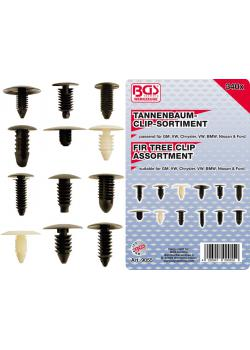 Tannenbaum clip range - for GM - VW - Chrysler - BMW - Nissan and Ford - 340 pcs.