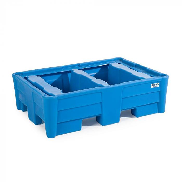 Auffangwanne classic-line - Polyethylen (PE) - Traglast 800 kg - für bis zu 2 Fässer - mit und ohne Gitterrost