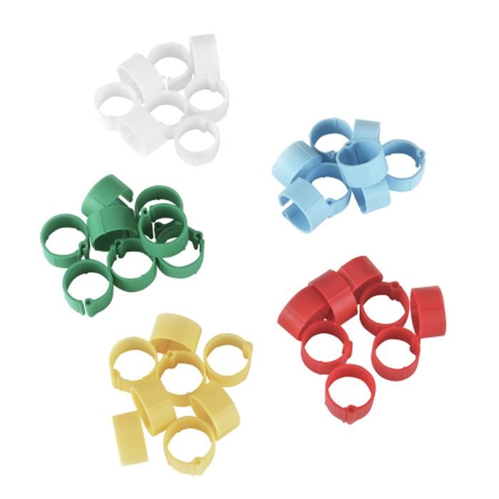 Plastic clip - 8 to 16 mm - mixed colors - 5 x 20 pieces in blister