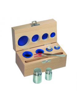 Etui für Prüfgewichte E1 bis F1 - Gewichte bis max. 5 kg - Holz, gepolstert