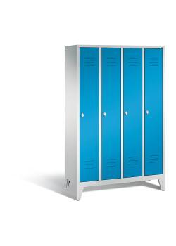 C+P Garderobenschrank Classic - Stahl - hellblau - mit Garderobenstange - H 1850 x B 1190 x T 500 mm