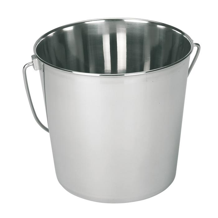 Stainless steel bucket - with carrying handle - 5.7 to 12.3 L